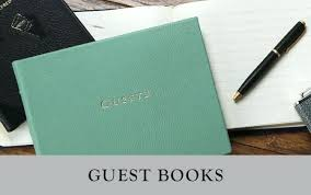 Office Guest Book Leather Guest Book Home Office Supplies Goodsco Co