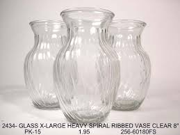 popular limited editions glass vase strong durable heavy weights spiral ribbed wedding decoration masterpiece centerpiece
