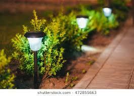 garden lamps. Perfect Garden Decorative Small Solar Garden Light Lanterns In Flower Bed Green  Foliage Design Intended Lamps G