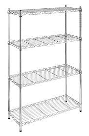 Racks For Kitchen Storage Amazoncom Whitmor Supreme 4 Tier Shelving Unit Chrome Home