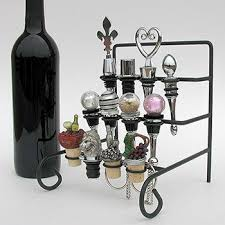 Decorative Wine Bottle Stoppers 1100100100100 Wine Bottle Stopper Display Rack or Stopper Stand 2