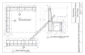 Built In Bench Deck Plan With Built In Benches For Seating And Storage