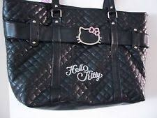Hello Kitty Quilted Bag | eBay & NWT Hello Kitty Quilted Black Faux Leather Shopping Bag Handbag Tote Purse Adamdwight.com