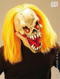 Halloween Mask Light Up Eyes Scary Biter Mask W Wig Light Up Eyes Fancy Dress Halloween