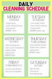 Weekly House Cleaning Chart Stay At Home Mom Cleaning Schedule Avalonit Net