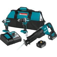 makita drill set brushless. makita 18-volt lxt lithium-ion brushless cordless combo kit (3-tool drill set