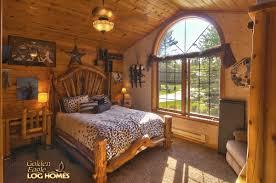 Log Cabin Bedroom Golden Eagle Log Homes Log Home Cabin Pictures Photos Ponderosa