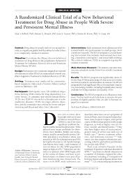a randomized clinical trial of a new behavioral treatment for drug first page pdf preview