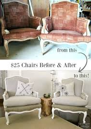 25 craigslist chairs before and after with simple sewing and no previous major upholstery skills these 1970s french chairs got a fabulous makeover and