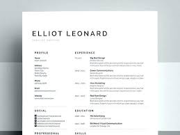 Gallery Of Creative Resume Template Free Free Resume Templates For