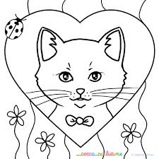 Coloriage Chat Les Beaux Dessins De Animaux Imprimer Et Coloriage De Chaton Dans Un Panier L