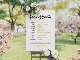 Wedding Program Template Order Of Events Sign Wedding