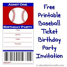 Invitation Ticket Template Ticket Birthday Party Invitations Printable Best 100 Baseball Tickets 77