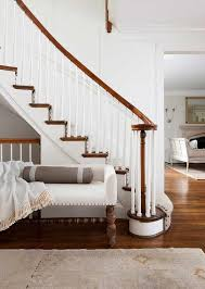entrance foyer furniture. White Bench On Staircase Wall Entrance Foyer Furniture R