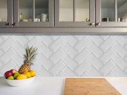 valencia subway bevelled glossy white ceramic wall tile 200 x 100mm