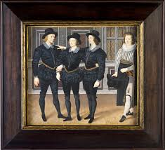 the three brothers browne by isaac oliver signed with monogram inscribed and dated 1598