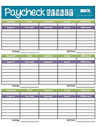 budget spreadsheet budget worksheet printable get paid weekly and charlie gets paid