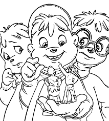 alvin and the chipmunks coloring pages complimentary pictures to