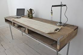 contemporary industrial furniture. reclaimed scaffolding board industrial chic extra long desk contemporary furniture g