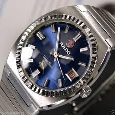17 best images about rado watch ceramics stainless rado golden gazelle automatic date blue dial rare swiss men s vintage watch