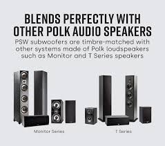 Buy Polk Audio PSW505 12 Powered Subwoofer - Deep Bass Impact &  Distortion-Free Sound, Up to 460 Watts, Easy Integration with Home Theater  Systems, BLACK Online in Vietnam. B000092TT0