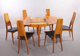 brilliant german cherry wood extendable dining table with six chairs ernst inside cherry wood dining table