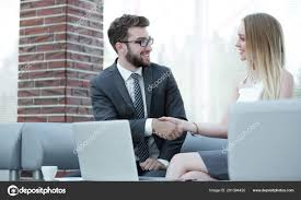 Job Interview Success Successful Job Interview With Boss And Employee Handshaking