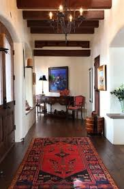 spanish home interior design. Dark Floors With Oriental Rugs \u0026 White Walls. Spanish Colonial Home Interior - Hall Tewes Design I