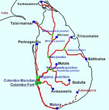 sri lanka railway map