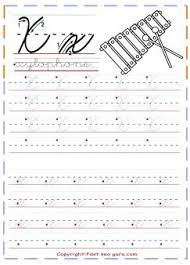 Print Out Cursive Handwriting Tracing Worksheets Letter X