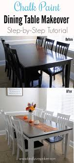 chalk paint dining table makeover diy