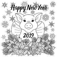 Kleurplaten Gelukkig Nieuwjaar 2019