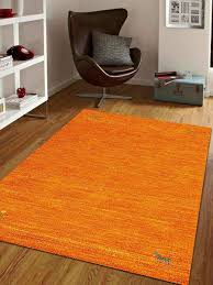 hand knotted gabbeh wool 6 x9 area rug solid orange l00100 getmyrugs com