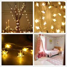 Battery Net Lights Us 1 51 16 Off Mosquito Net Star String Lights Battery Operated With 50 Led For Bedroom Curtain Wedding Birthday Holidays Rooms Warm White In