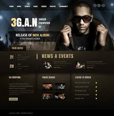 Artist Website Templates Adorable Music Band Website Templates That Will Rock You