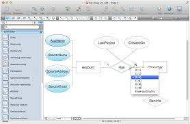 entity relationship diagram  erd  solution   conceptdraw cominside