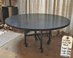 custom handmade zinc top round tables for at hammertown