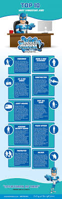 Top 10 Most Dangerous Jobs Business Infographics Pinterest
