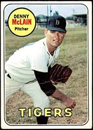 Amazon.com: 1969 Topps # 150 Denny McLain Detroit Tigers (Baseball Card)  Dean's Cards 2 - GOOD Tigers: Collectibles & Fine Art