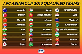 Asia Cup Chart 2019 Afc Asian Cup The 24 Contenders Fox Sports Asia
