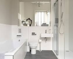 Inspiration for a contemporary gray floor bathroom remodel in Edinburgh  with a wall-mount sink