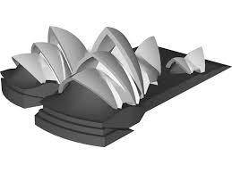 opera house sydney 3d model
