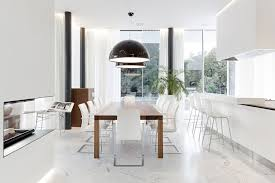 White Dining Room Chairs - Modern dining room chair