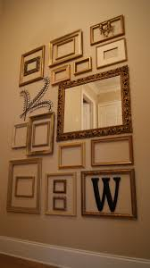Picture frame collage wall - Complete!