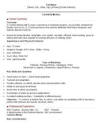 Model Resume New 60 Free Model Resume Samples Sample Resumes
