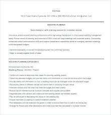 Event Planner Resume Template Event Planner Resume Template Resume