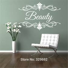 personalised beauty salon spa custom business name wall art stickers decal diy home decoration wall mural on wall art business names with personalised beauty salon spa custom business name wall art stickers