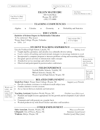 Inspire High School Math Featuring Student Teaching Experience And Teacher  Resume Example