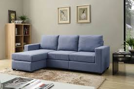 small blue sectional sofa