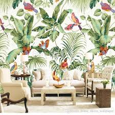 custom mural wallpaper european style tropical rainforest flower bird painting wall covering living room bedroom photo wallpaper colour wallpapers computer